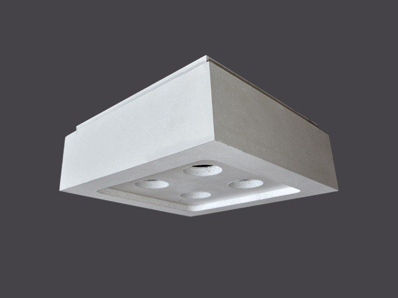 Plafoniere Quadrate A Led : Led light fixture in plasterboard u2013 with strips 90°